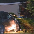 Florida woman arrested after repeatedly crashing into her own home