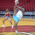 Florida man slays routine at Miami Heat dancer tryouts