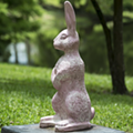 Someone vandalized the pink bunny statue at Lake Como Park