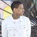 Lil Durk tryna' get the party going at Venue 578 on Saturday