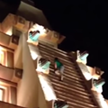 Watch this extremely drunk man climb Epcot's Mexico Pavilion