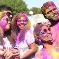 Everyone we saw at the colorful Orlando Holi Festival at Bill Frederick Park last weekend