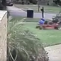 Watch this landscaper therapeutically run over a Trump lawn sign in Orlando