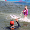 This baby from Winter Haven is probably the world's youngest water skier