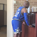One of you decided to run errands in a full Orlando Magic uniform today