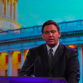 Florida Governor Ron DeSantis mocked mask requirements during a speech at a conservative policy conference in Utah.