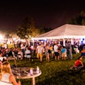 The outdoor stage at Fringe provides a packed schedule of music, theater, comedy and more