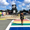 Crews finish installing Orlando's new rainbow crosswalk near Pulse