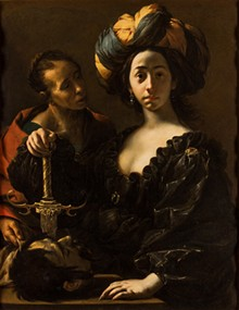 "'JUDITH HOLDING THE HEAD OF HOLOFERNES,"" FRANCESCO DEL CAIRO (1633)"