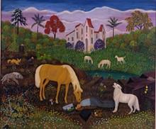 "LAWRENCE LEBDUSKA - ""Self Portrait Asleep With Creatures"""