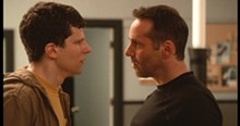 PHOTO COURTESY OF BLEECKER STREET MEDIA - Jesse Eisenberg and Alessandro Nivola in The Art of Self-Defense