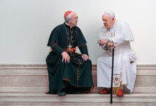 PHOTO COURTESY NETFLIX - Anthony Hopkins and Jonathan Pryce in The Two Popes