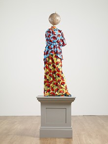 Yinka Shonibare (British, b. 1962), Athena (after Myron), 2019, Fiberglass sculpture, hand-painted with Batik pattern, and steel base plate. The Alfond Collection of Contemporary Art at Rollins College, Gift of Barbara '68 and Theodore '68 Alfond. - Uploaded by CFAM