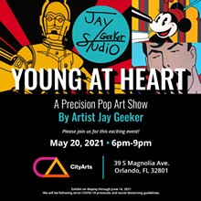 Young At Heart - A Precision Pop Art Show by Jay Geeker - Uploaded by ConnectTara