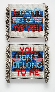 2016, Glass beads, tin jingles, artificial sinew, acrylic felt, The Alfond Collection of Contemporary Art at Rollins College, Gift of Barbara '68 and Theodore '68 Alfond. 2017.6.29. Image courtesy of the artist and Roberts Projects, Los Angeles, California - Uploaded by RMA