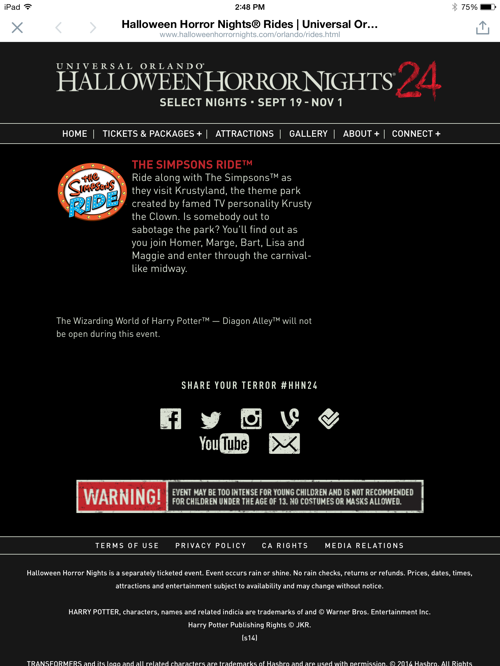click to enlarge hhnjpg heres the full halloween horror nights