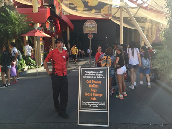 Strict new security screenings are being tested at Universal Orlando's roller coasters. - SETH KUBERSKY