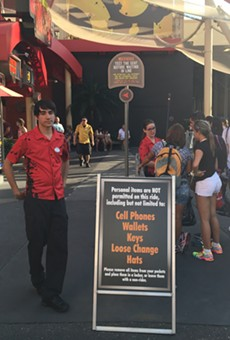 Strict new security screenings are being tested at Universal Orlando's roller coasters.