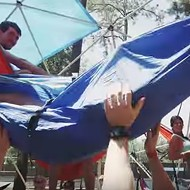 University of Florida students organized the world's largest hammock party