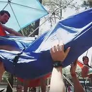 University of Florida students organized the world's largest hammock party