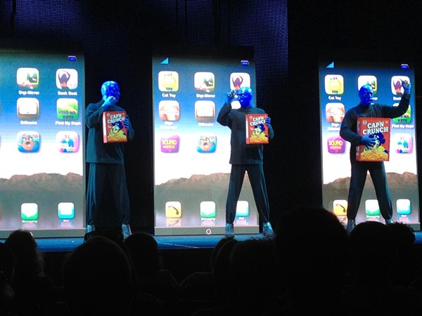 """Updated """"Blue Man Group"""" show previewed at Universal Citywalk 2/16/12"""