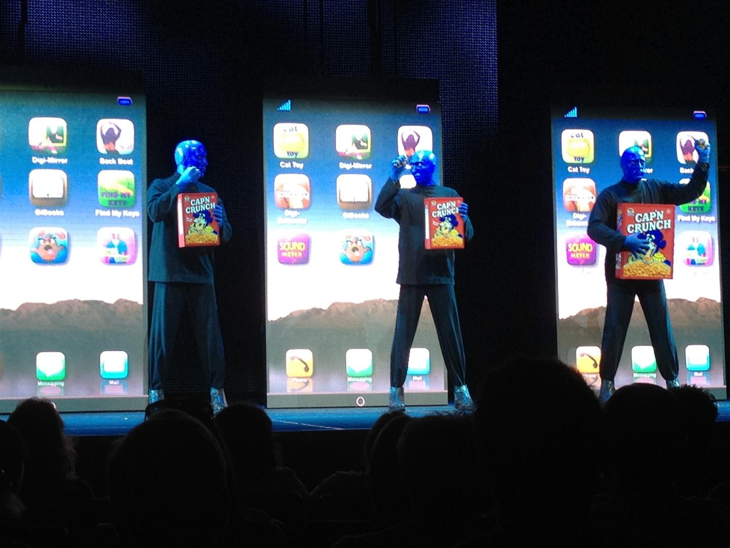 "Updated ""Blue Man Group"" show previewed at Universal Citywalk 2/16/12"