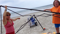 VIDEO: Man catches two women stealing his beach canopy in New Smyrna Beach
