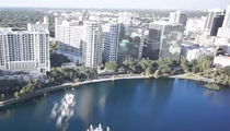 VIDEO: Aerial views of downtown Orlando captured by drones