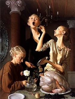 We hope your Thanksgiving is a little less weird than John Currin's.