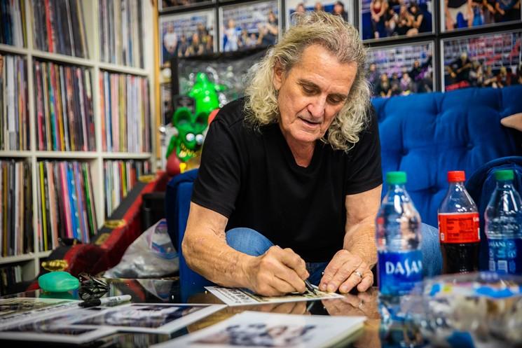 Michael Bruce signing autographs at Asylum Records. - JACOB TYLER DUNN