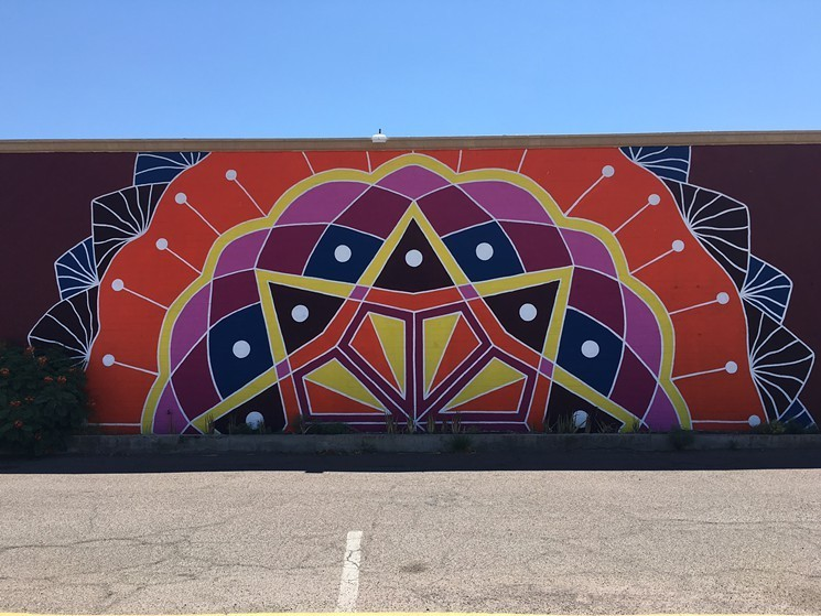 Kyllan Maney's metro Phoenix murals include this piece at The Dhaba in Tempe. - LYNN TRIMBLE
