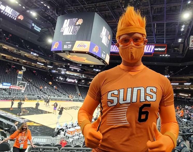 Patrick Battillo, better known as Suns superfan Mr. ORNG. - MR. ORANG'S FACEBOOK