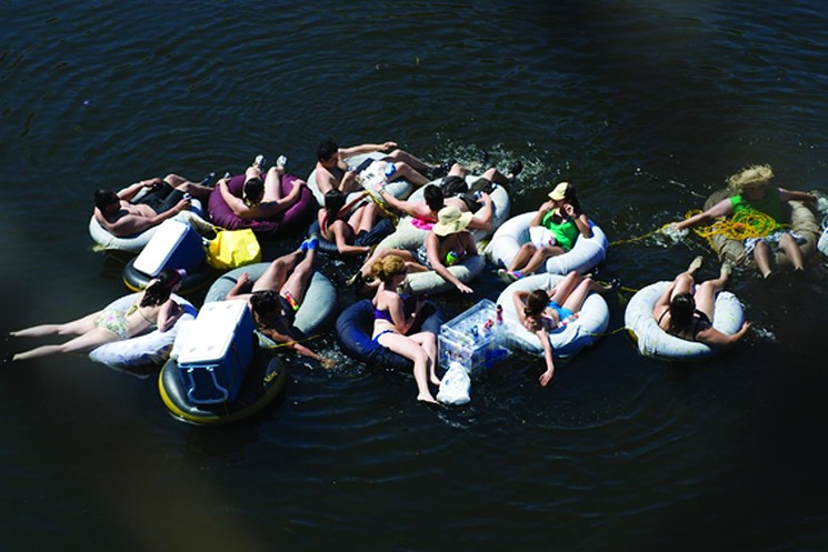 Tubing on the Salt River is a Phoenix summer tradition. - VICTOR PALAGANO