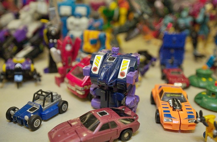 Old-school Transformers and other vintage playthings will be in abundance at the Epic Toy Show. - BENJAMIN LEATHERMAN