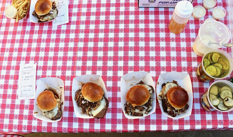 Shorty's steak sandwiches being served. - COURTESY SHORTY'S CHARPIT