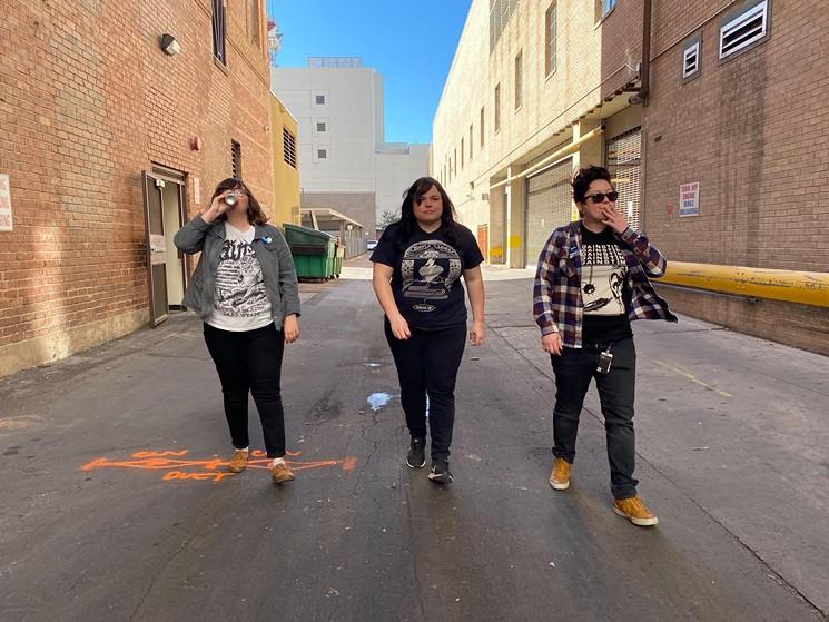 Local punk trio It's Embarrassing. - IT'S EMBARRASSING