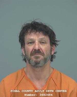 Michael Phillips' July 30 mugshot. - PINAL COUNTY SHERIFF'S OFFICE