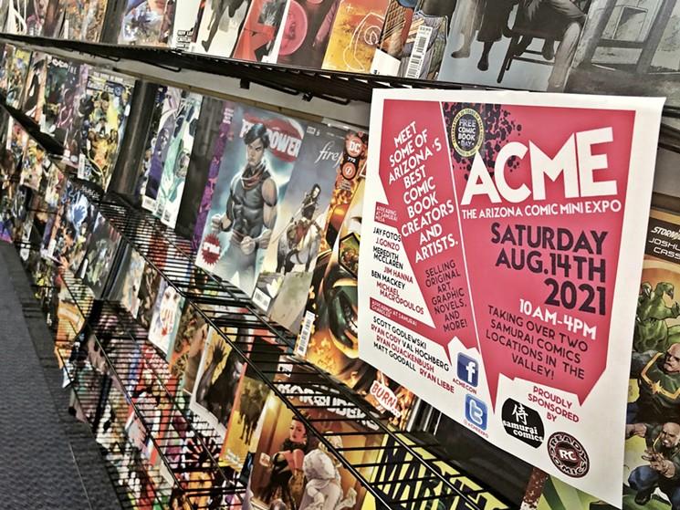 Samurai Comics locations in Chandler and Mesa are gearing up for the Arizona Comic Mini Expo. - BENJAMIN LEATHERMAN