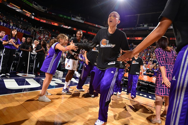 Diana Taurasi leads the Phoenix Mercury into the second half of the WNBA season. - BARRY GOSSAGE/PHOENIX MERCURY