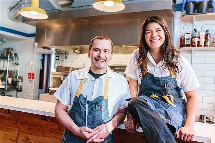 Shift Owner Dara Wong and Chef De Cuisine George Murkowicz. - SHIFT KITCHEN + BAR