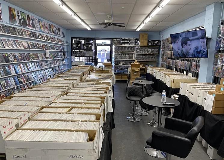 The interior of Brandon's Comics in Tempe. - BRANDON'S COMICS
