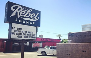 The Rebel Lounge in central Phoenix. - THE REBEL LOUNGE'S FACEBOOK