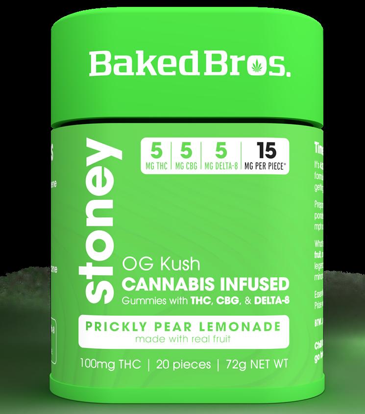 Baked Bros' new Prickly Pear Lemonade OG Kush Stoney Gummies - BAKED BROS