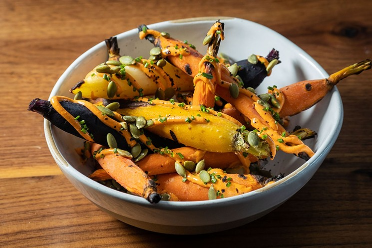 Roasted heirloom carrots at Character. - JACOB TYLER DUNN