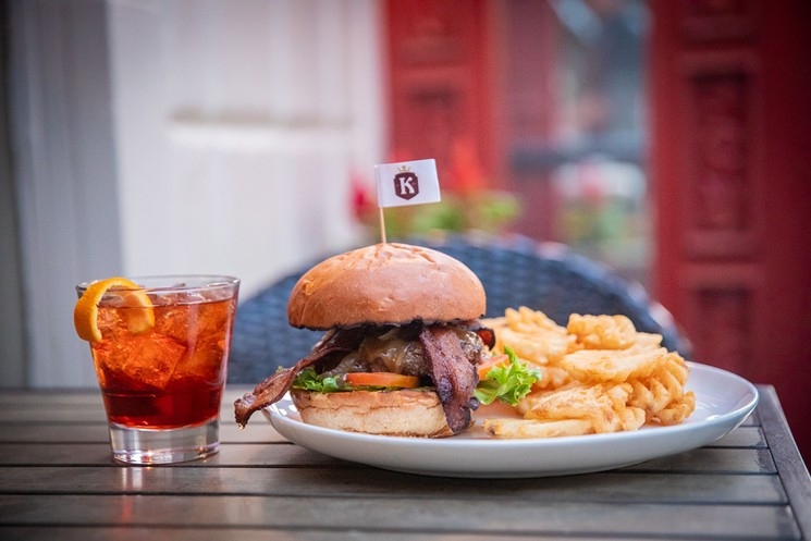 A burger, beer, and football — what more could you want? - KELLY'S AT SOUTHBRIDGE