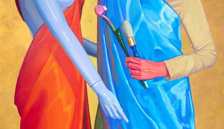 Look for Lucretia Torva's Artist as Saint at The Icehouse. - LUCRETIA TORVA
