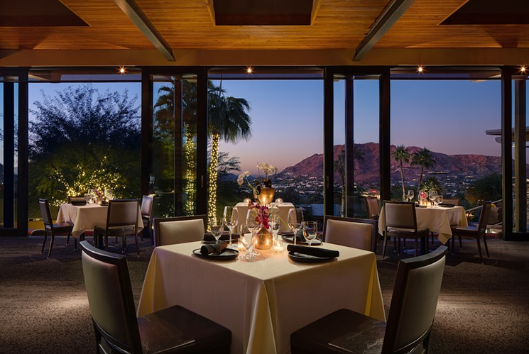 Dinner with a view at elements. - ELEMENTS AT SANCTUARY CAMELBACK MOUNTAIN