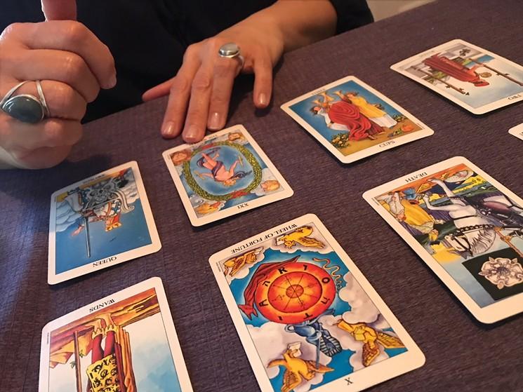 When you just feel like a little tarot card time. - LYNN TRIMBLE