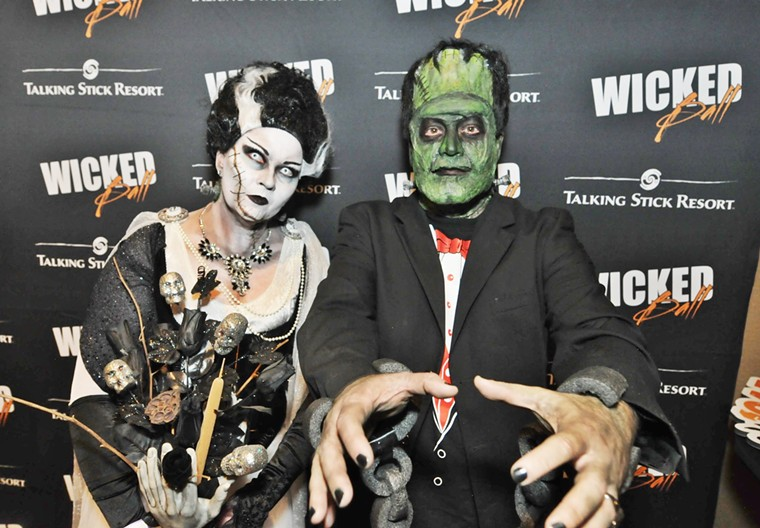 Costumed attendees of Talking Stick's Wicked Ball in 2019. - BENJAMIN LEATHERMAN