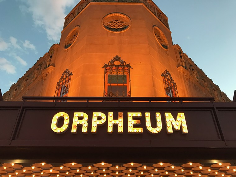Music is back on the Orpheum stage. - LYNN TRIMBLE